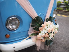 VW Kombi Van Wedding Car. Tiong Bahru Estate