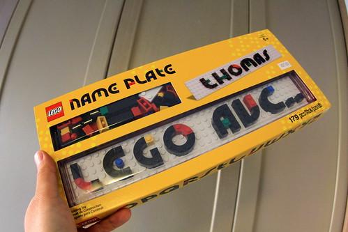 Lego Nameplate sample