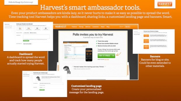 Harvest's smart ambassador tools.