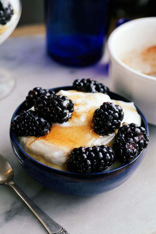 blackberry spiced honey greek yogurt [ inthiskitchen.com ]