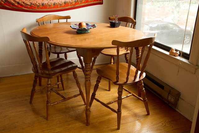 For Sale $100: Maple Kitchen Table And 4 Chairs