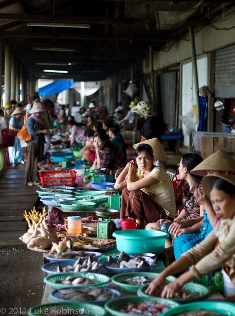 Pensive merchant, Hue Central Market