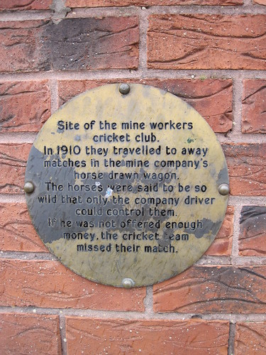 Ironstone Plaque, New Markse Sports Club