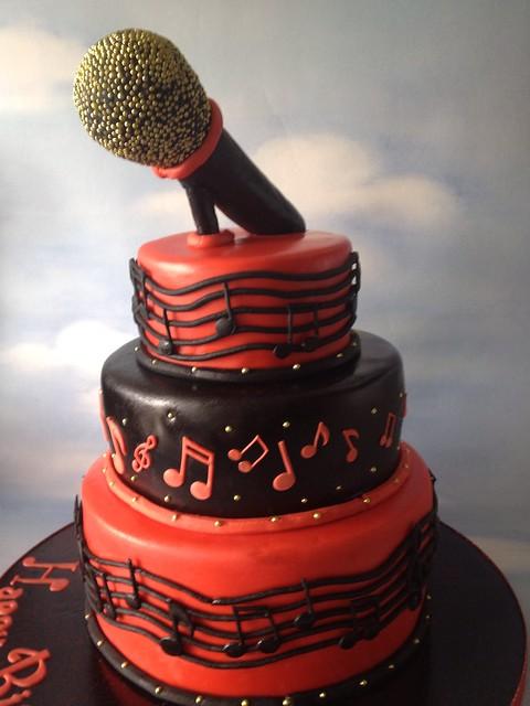 Musical Singer Cake  Flickr  Photo Sharing