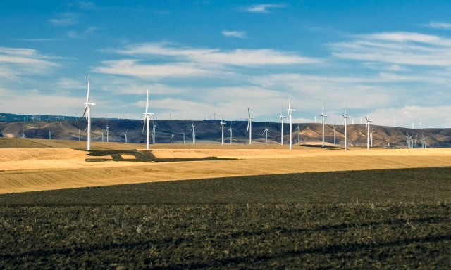 Wind farm near Wasco, Oregon