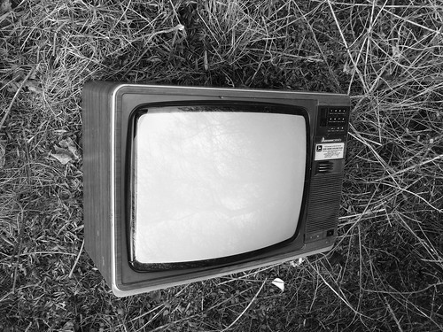 the fabled lost graveyard of old television sets
