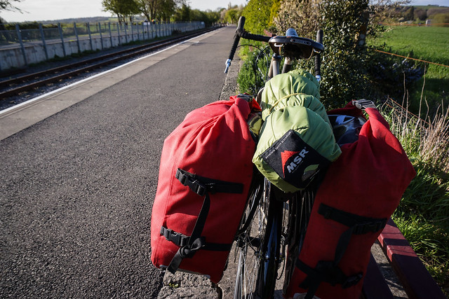 Loaded up with rear panniers