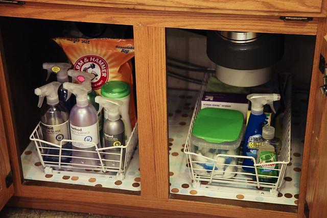 Organizing Under the Sinks