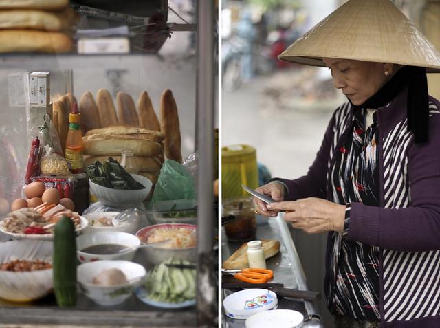 making bánh mì