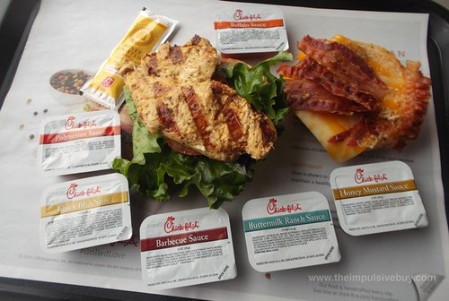 Chick-fil-A Grilled Chicken Club Sandwich Sauces