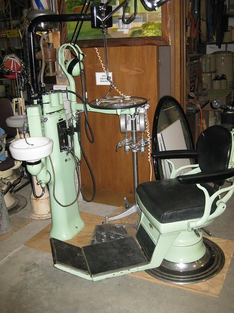 vintage dentist chair