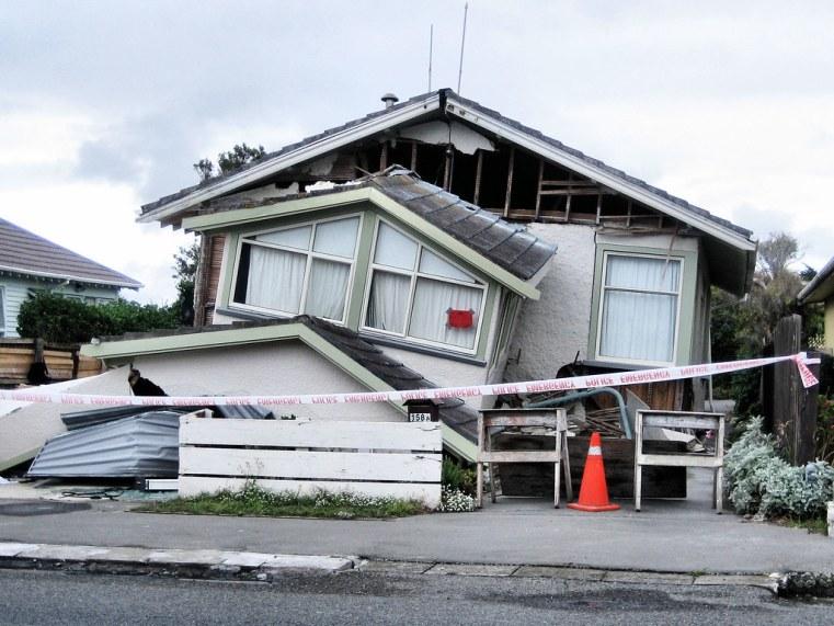 Damaged house following Feb 22 quake