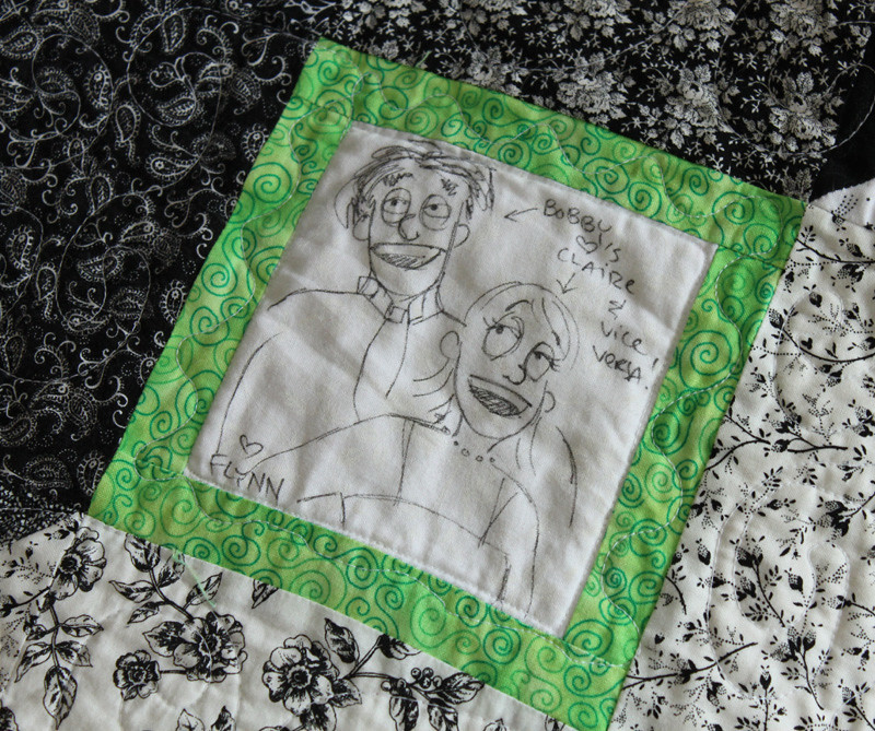 Wedding quilt square