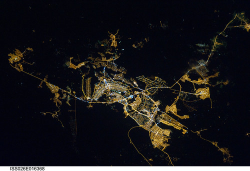 Brasilia, Brazil at Night (NASA, International Space Station, 01/08/11) by NASA's Marshall Space Flight Center