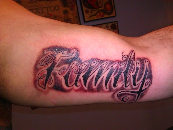 family script tattoo wes fortier