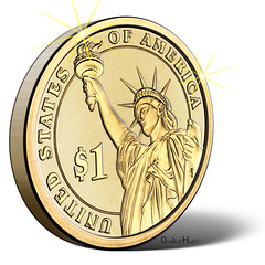 US Dollar Coin - Illustration