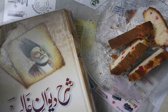 Mirza Ghalib and Cake