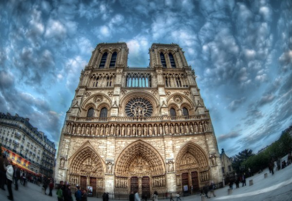 The Fisheye of Notre Dame