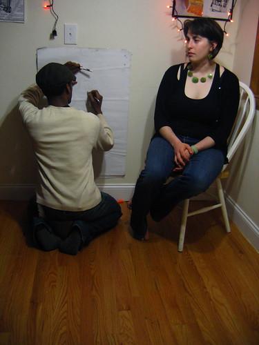 Bitson Jean draws a portrait