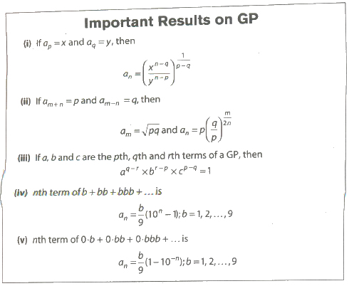 CBSE Class 11 Maths Notes Sequences and Series