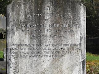 Charlotte Heberley - Picton cemetery
