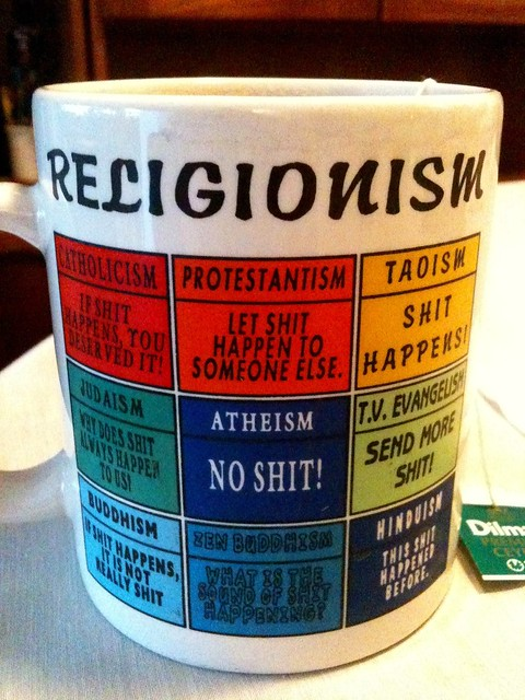 Religionism The world39s religions in terms of shit