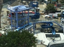 Disneyland Hotel Monorail Slides Pool Construction