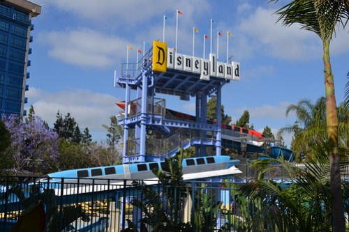 New Monorail Water Slides at the Disneyland Hotel