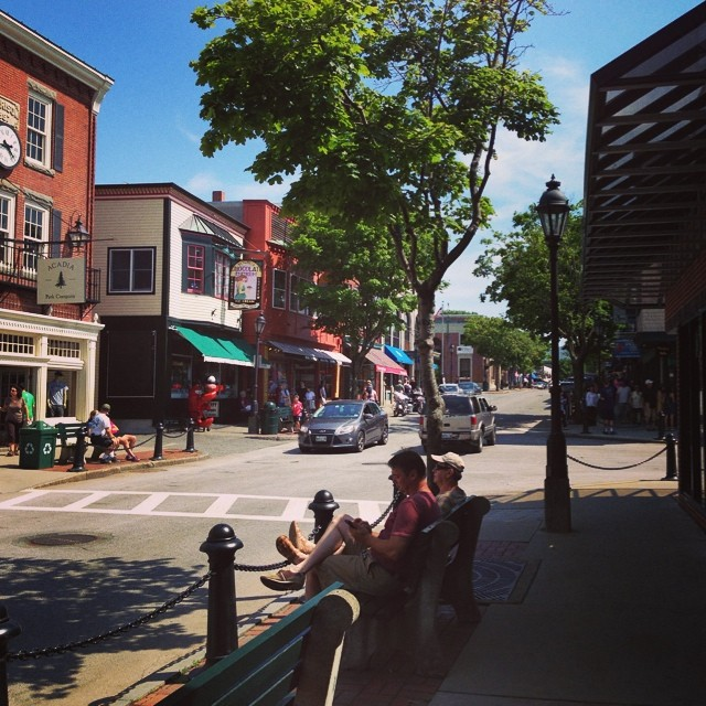 Bar Harbor, ME. Cutest small town ever? #barharbor #maine