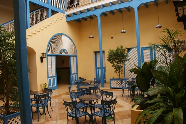 Patio Hotel Mascotte in Remedios, Cuba