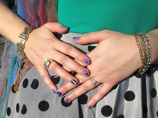 Manicure (with Julep nail polish), bracelets, and rings. Photo by Pat Zimmerman.