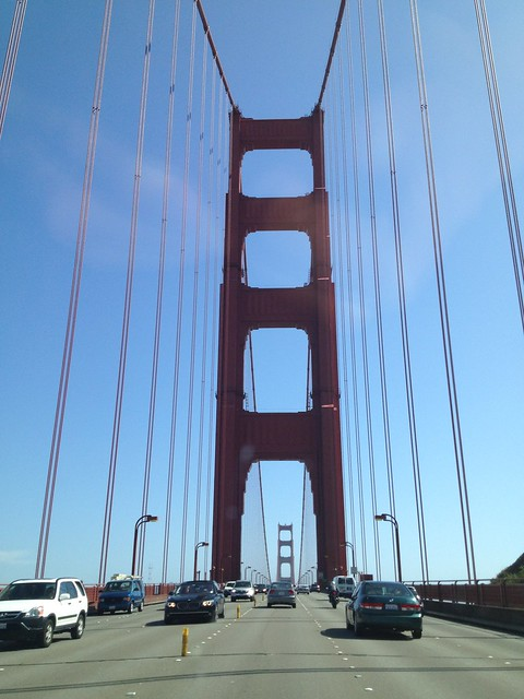 Southbound on the Golden Gate Bridge