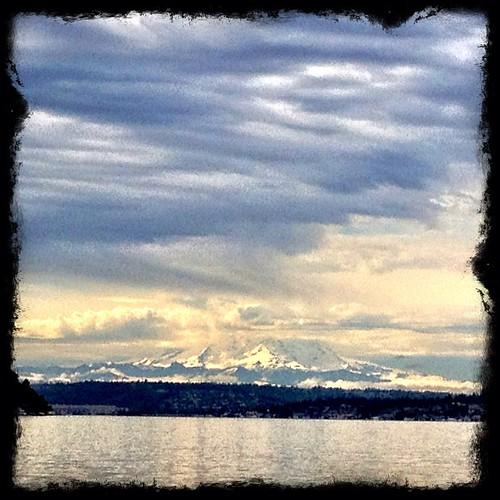 View on my walk. #camera+ #clouds #Seattle #mountains