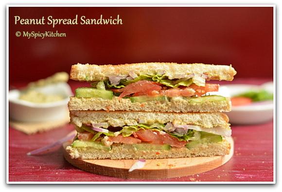 Homemade peanut spread, peanut chutney sandwich