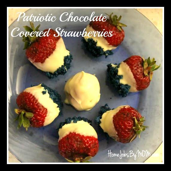 Patriotic Chocolate Covered Strawberries