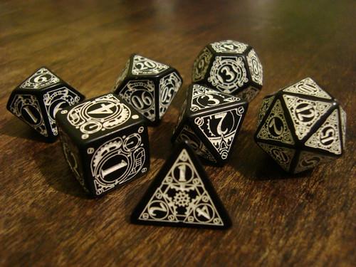 Steampunk dice
