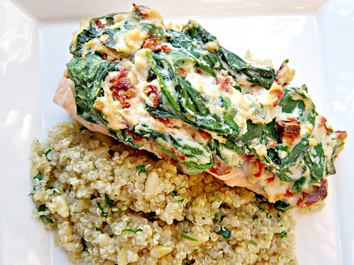 Salmon Florentine with Quinoa Pilaf 002