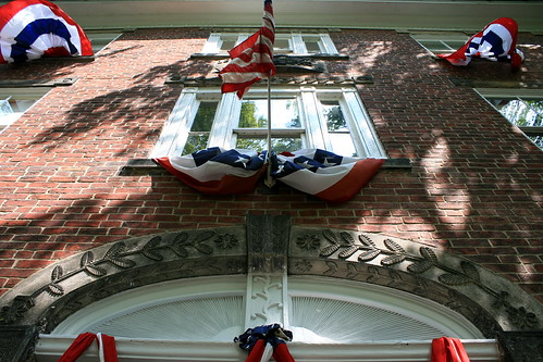 Spread Eagle Tavern in Hanoverton, Ohio, with bunting. Photo copyright Jen Baker/Liberty Images; all rights reserved