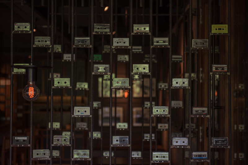 Audio cassette wall (1)