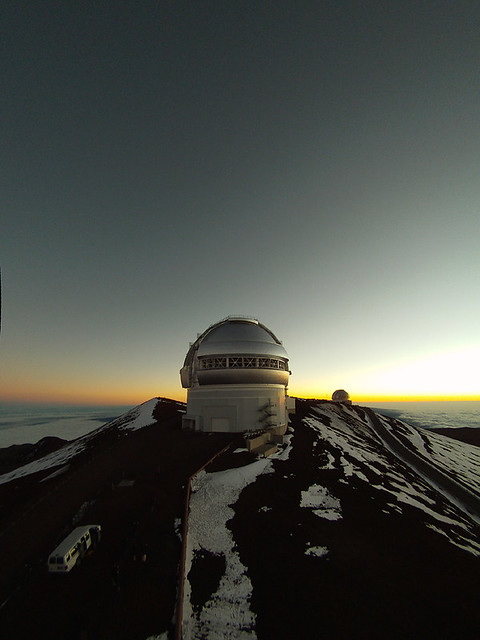 Gemini North Sunset via GoPro