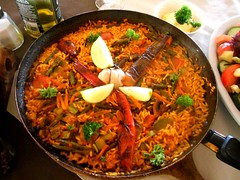 Paella de Verduras served at Papaya Restaurante
