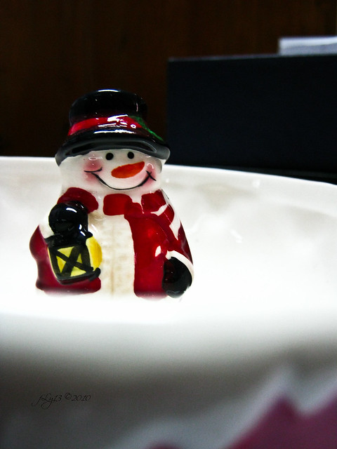 ceramic snow man