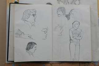 Sketches of my fellow art students at Great Yarmouth art college around 1979.