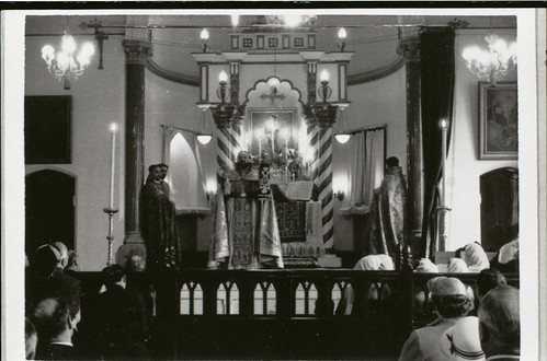 The Armenian Church in Manchester during a service, possibly involving confirmations, n.d. (GB124.DPA/1781/4)