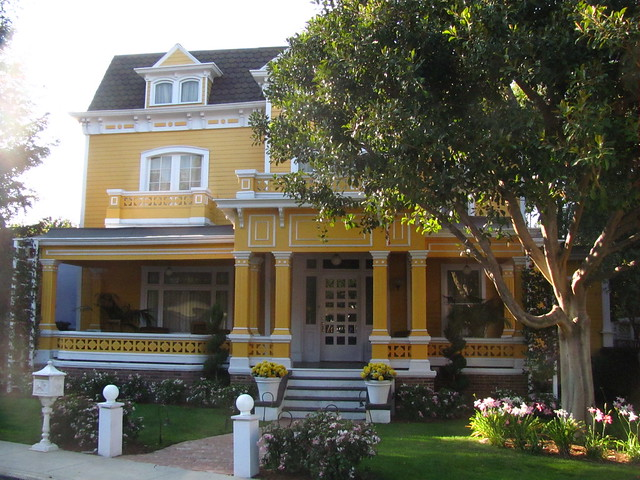 The Solis's house on Wisteria Lane on the Universal Studio Tour