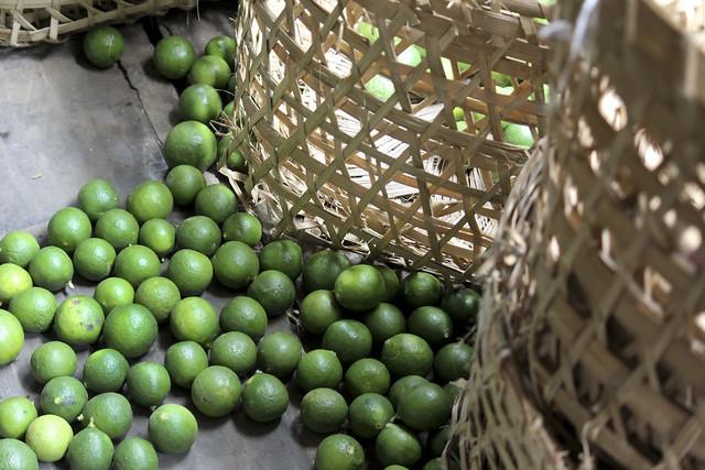spilled kafir limes