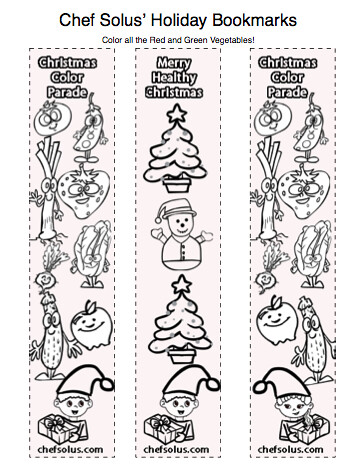 Holiday Bookmarks for Kids- Free Coloring Pages Printouts