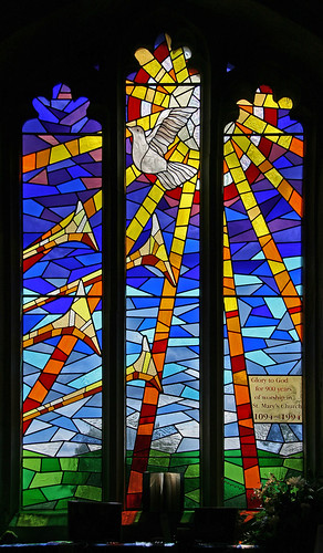 Anniversary window, Potton by TheRevSteve