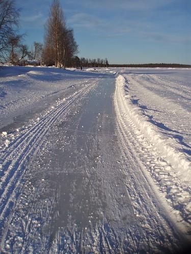 Tour skating track in Ylläsjärvi, Lapland