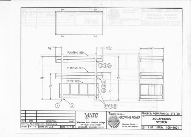 DI system: Schematics for aquaponics